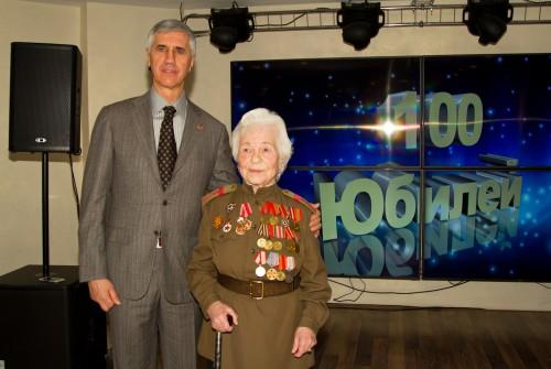 100-й юбилей ветерана ВОВ Татьяны Никоноровны Голубевой